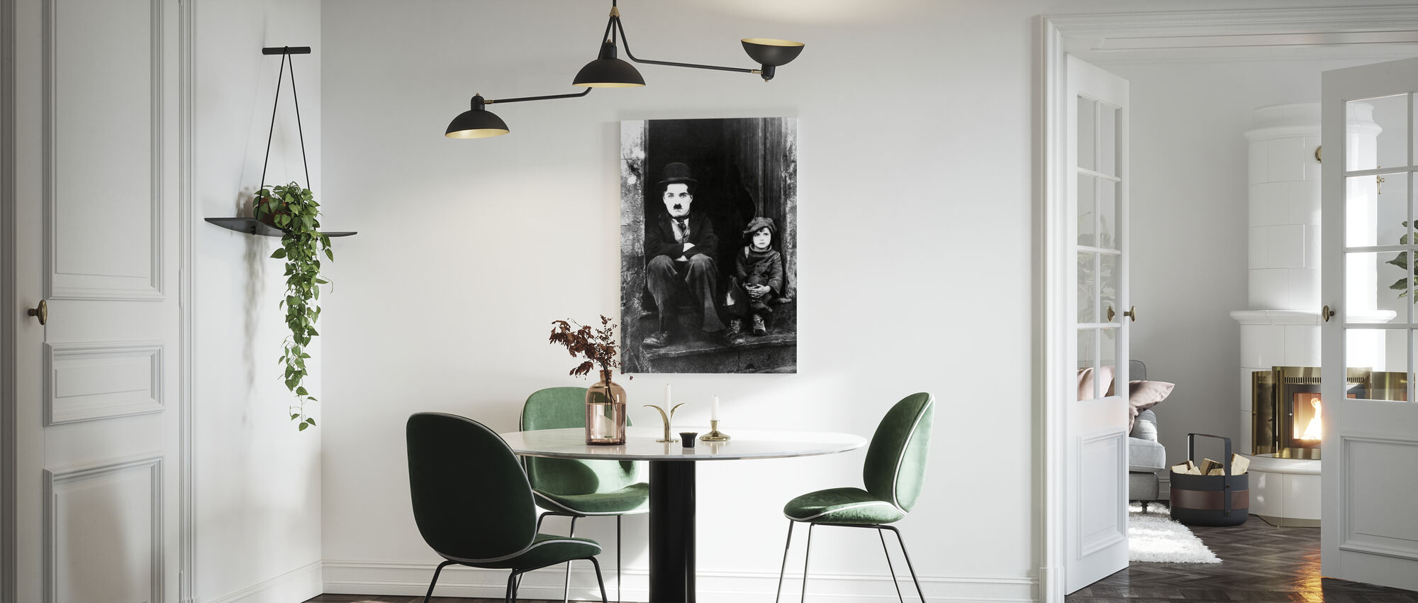 Charlie Chaplin och Jackie Coogan - Canvastavla - Kök