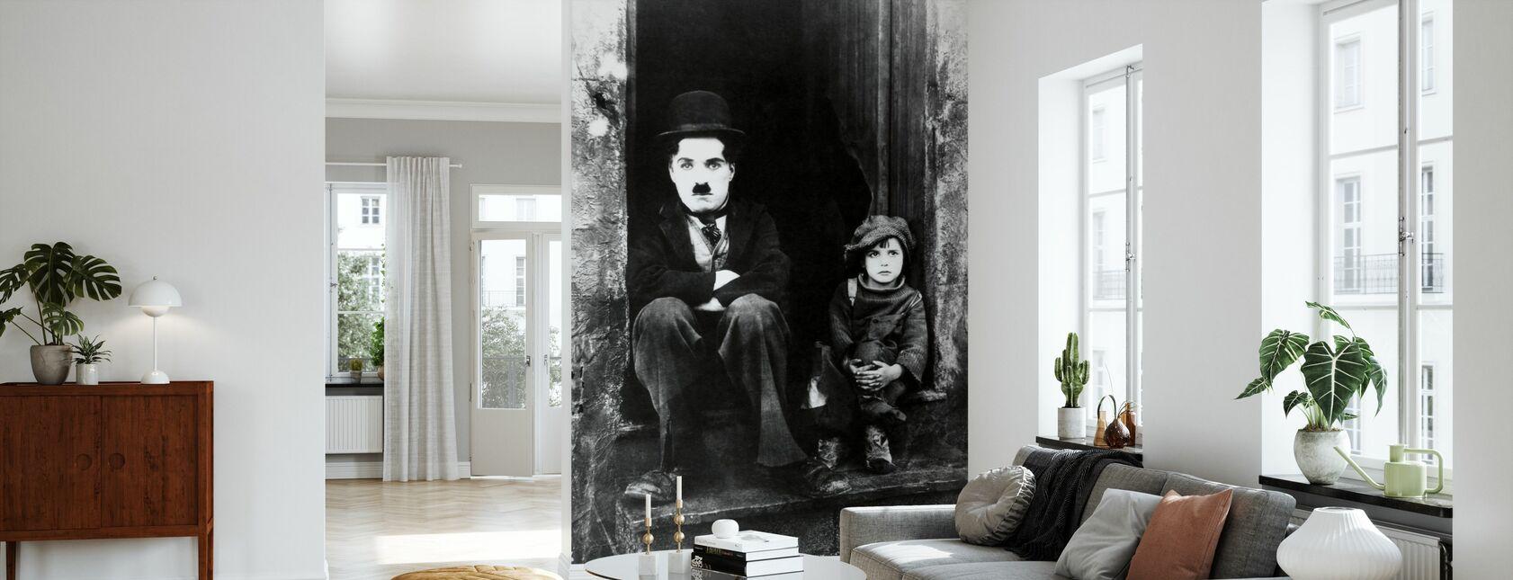 Charlie Chaplin ja Jackie Coogan - Tapetti - Olohuone