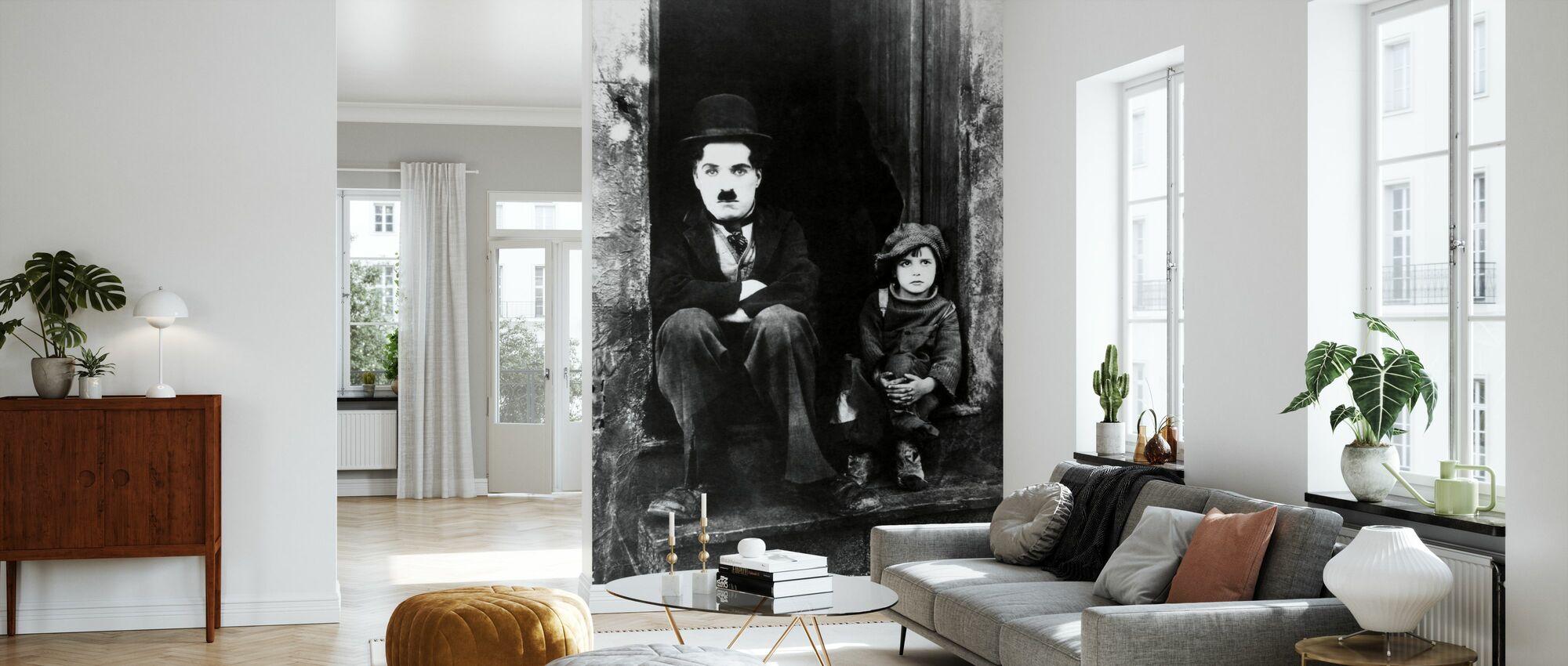 Charlie Chaplin and Jackie Coogan - Wallpaper - Living Room