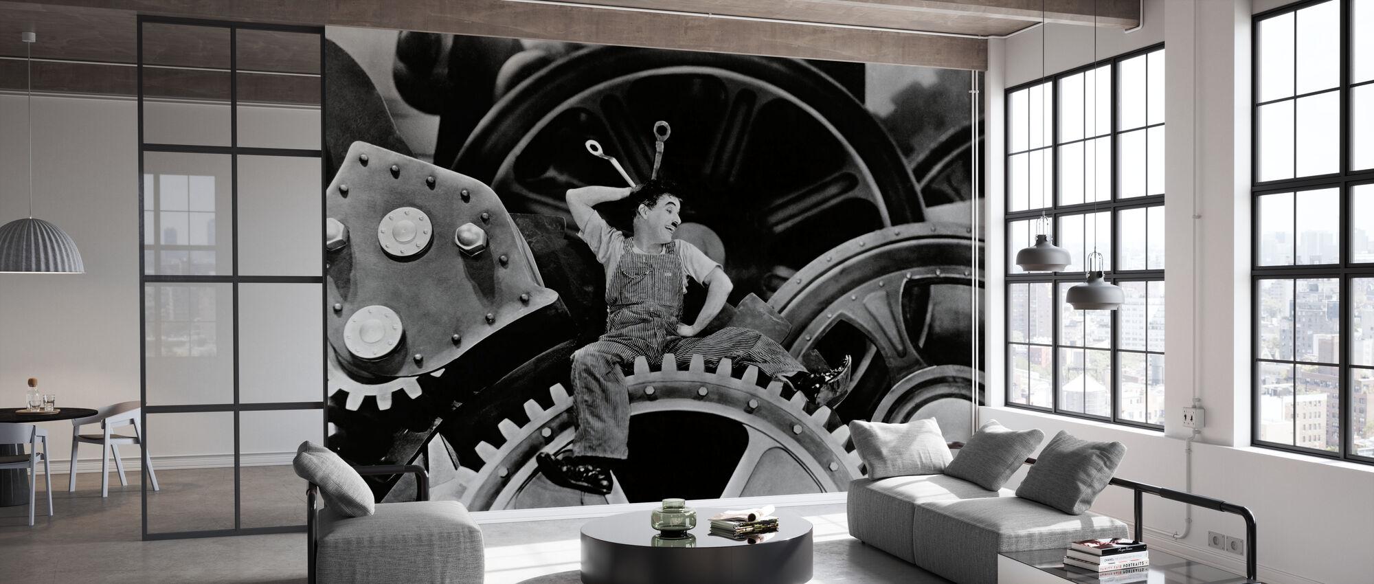 Charlie Chaplin i moderne tid - Tapet - Kontor