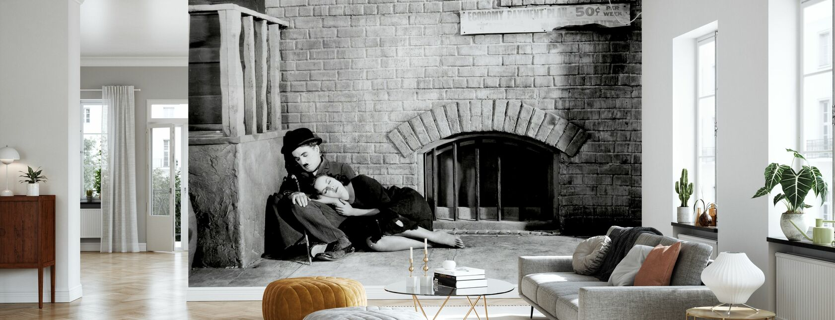 Charlie Chaplin ja Paulette Goddard Modern Times - Tapetti - Olohuone
