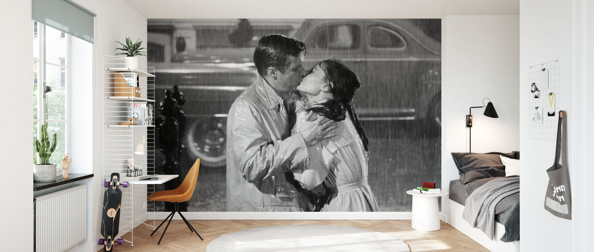 Audrey Hepburn and George Peppard in Breakfast at Tiffanys - Wallpaper - Kids Room
