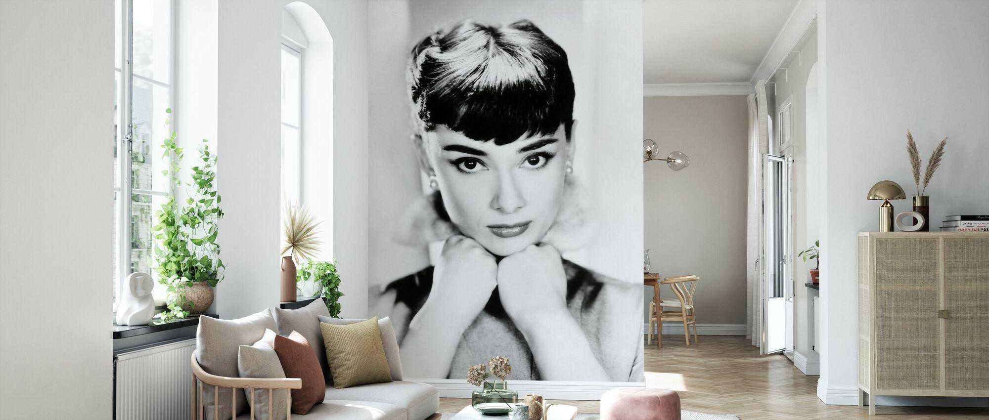 Audrey Hepburn - Tapet - Stue