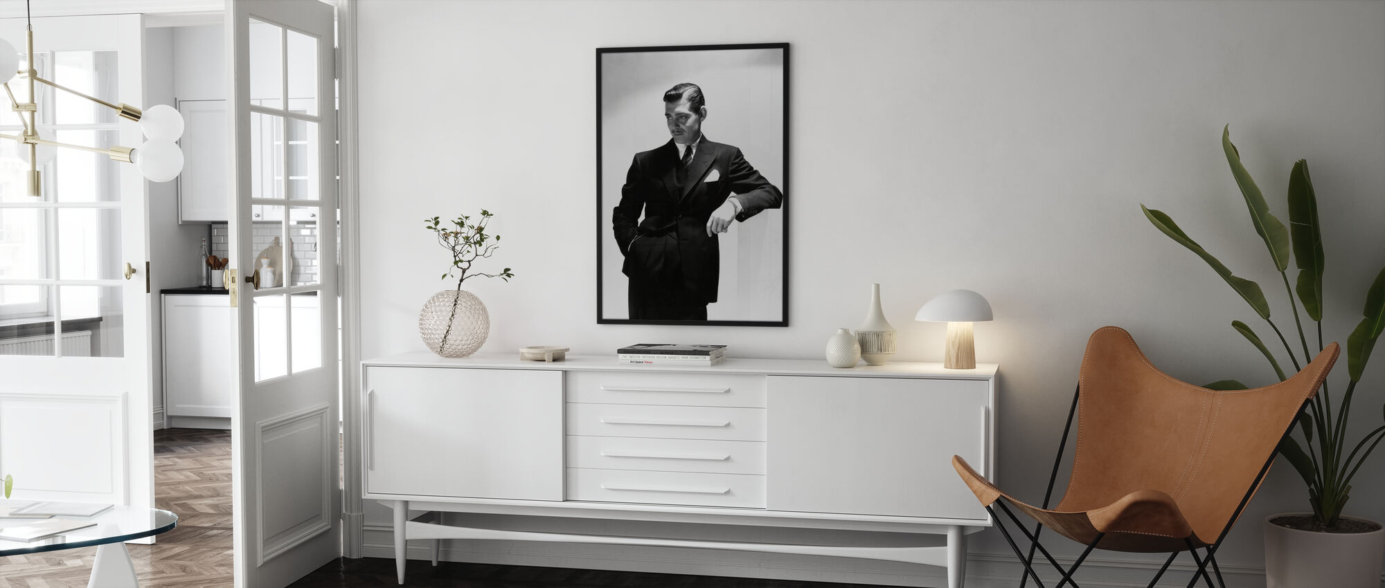 Clark Gable - Framed print - Living Room