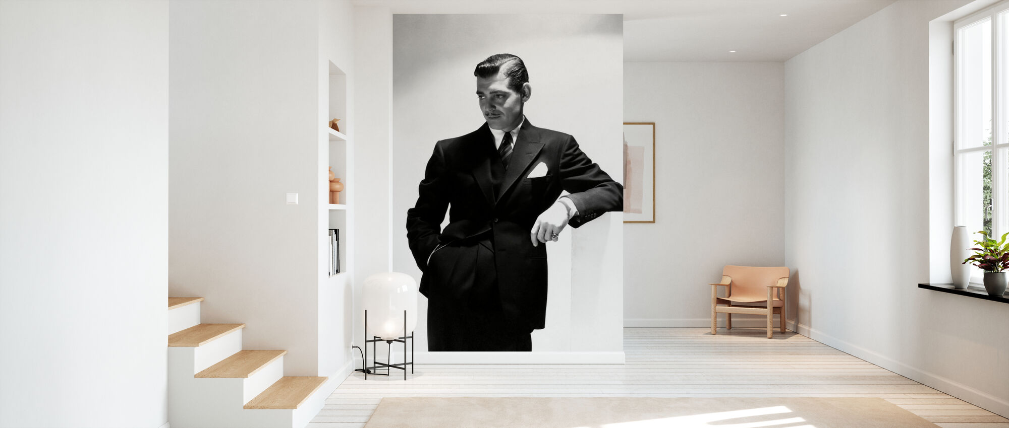 Clark Gable - Behang - Gang