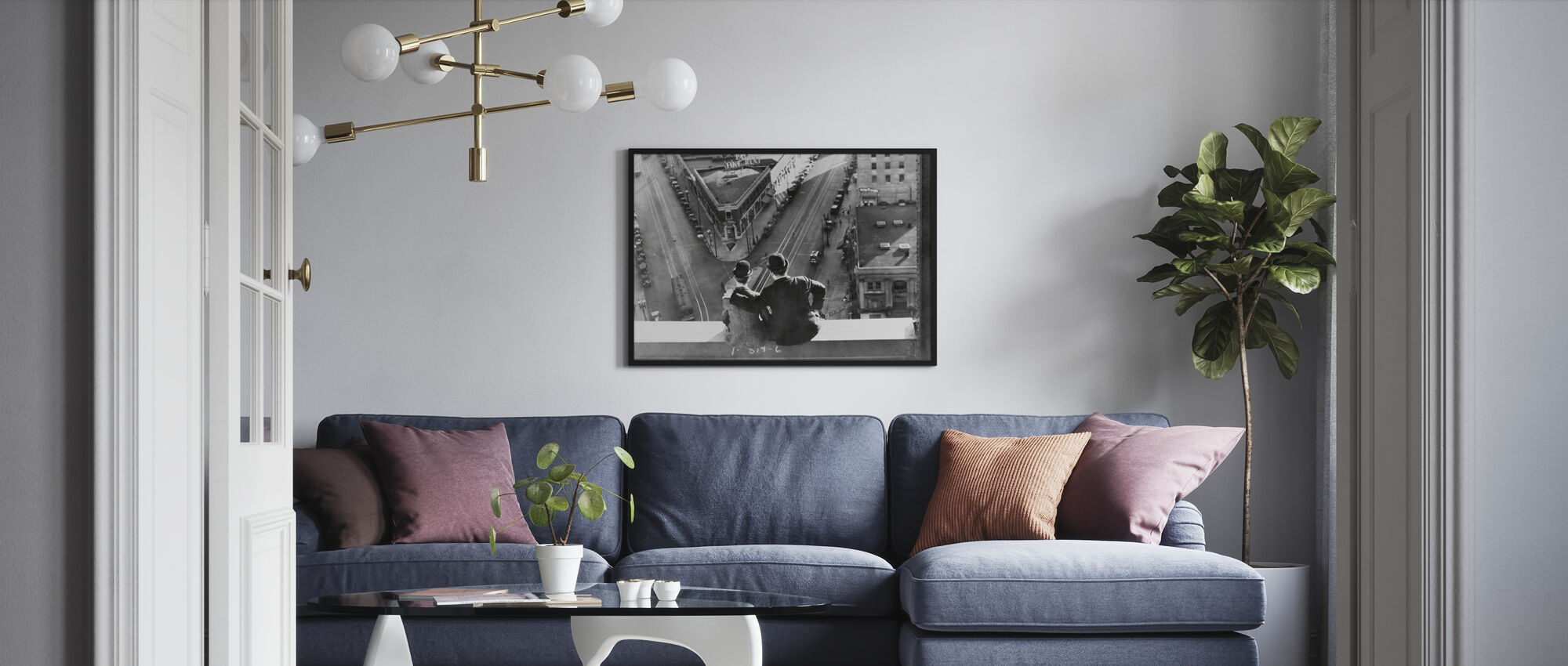 Oliver Hardy and Stan Laurel in Liberty - Framed print - Living Room