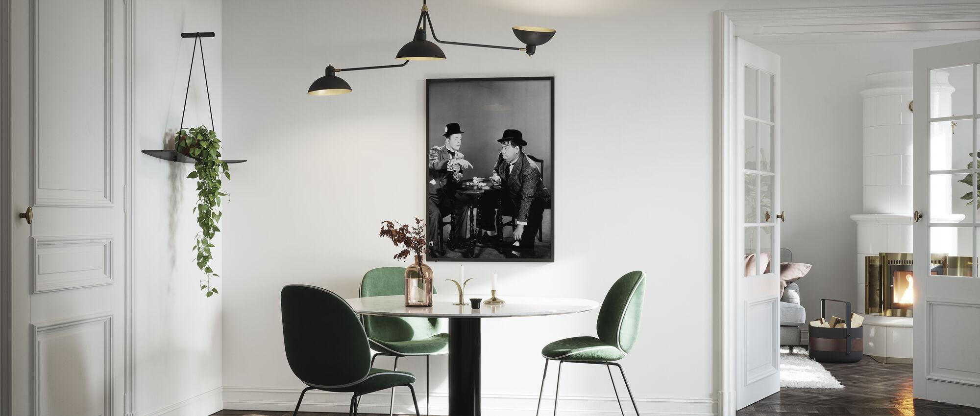 Oliver Hardy og Stan Laurel - Innrammet bilde - Kjøkken