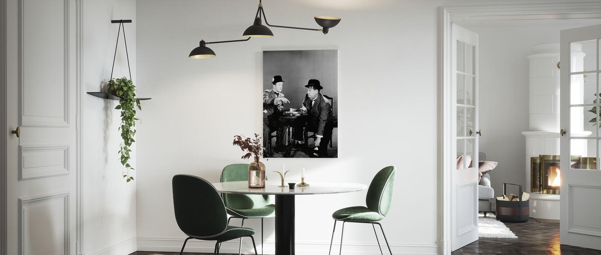 Oliver Hardy en Stan Laurel - Canvas print - Keuken