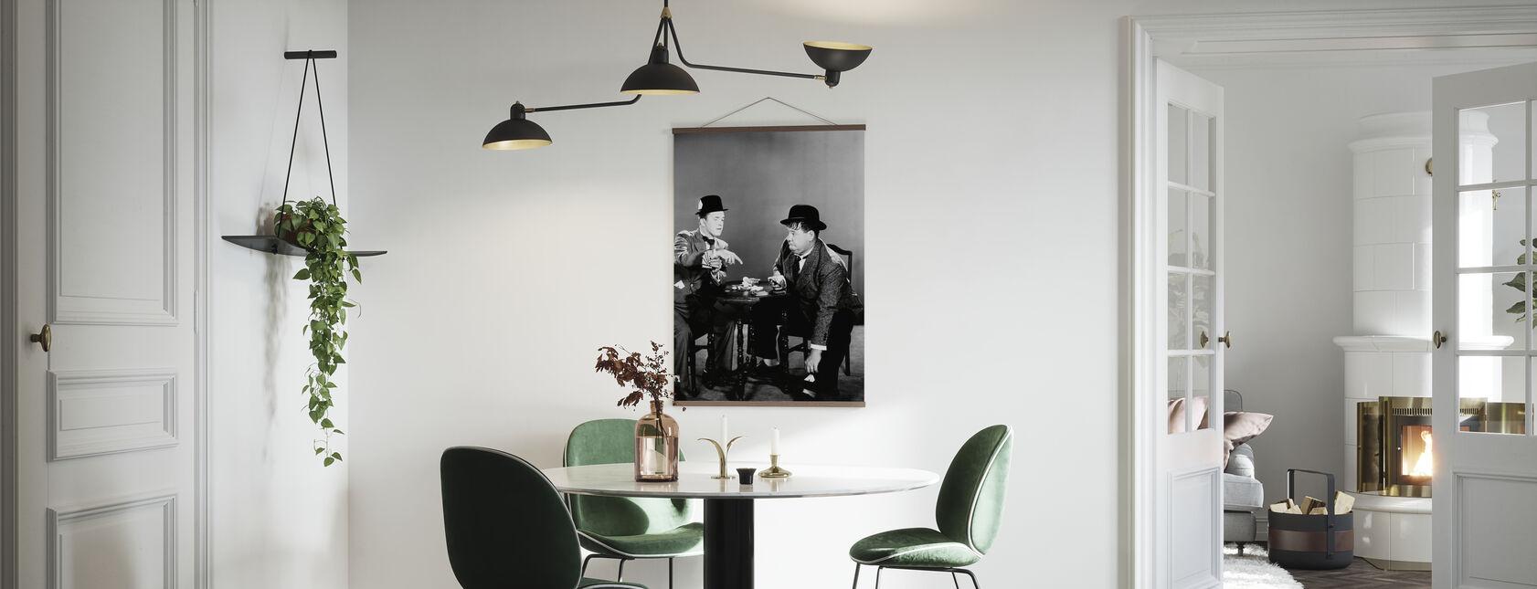 Oliver Hardy en Stan Laurel - Poster - Keuken