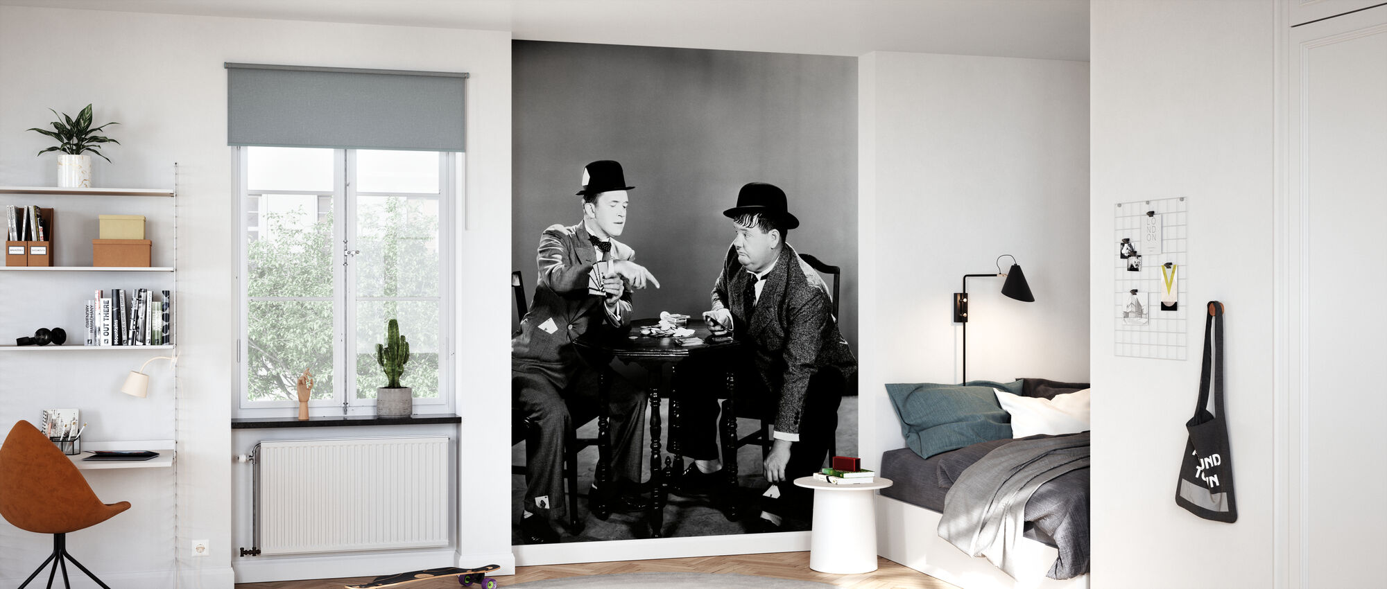 Oliver Hardy and Stan Laurel - Wallpaper - Kids Room