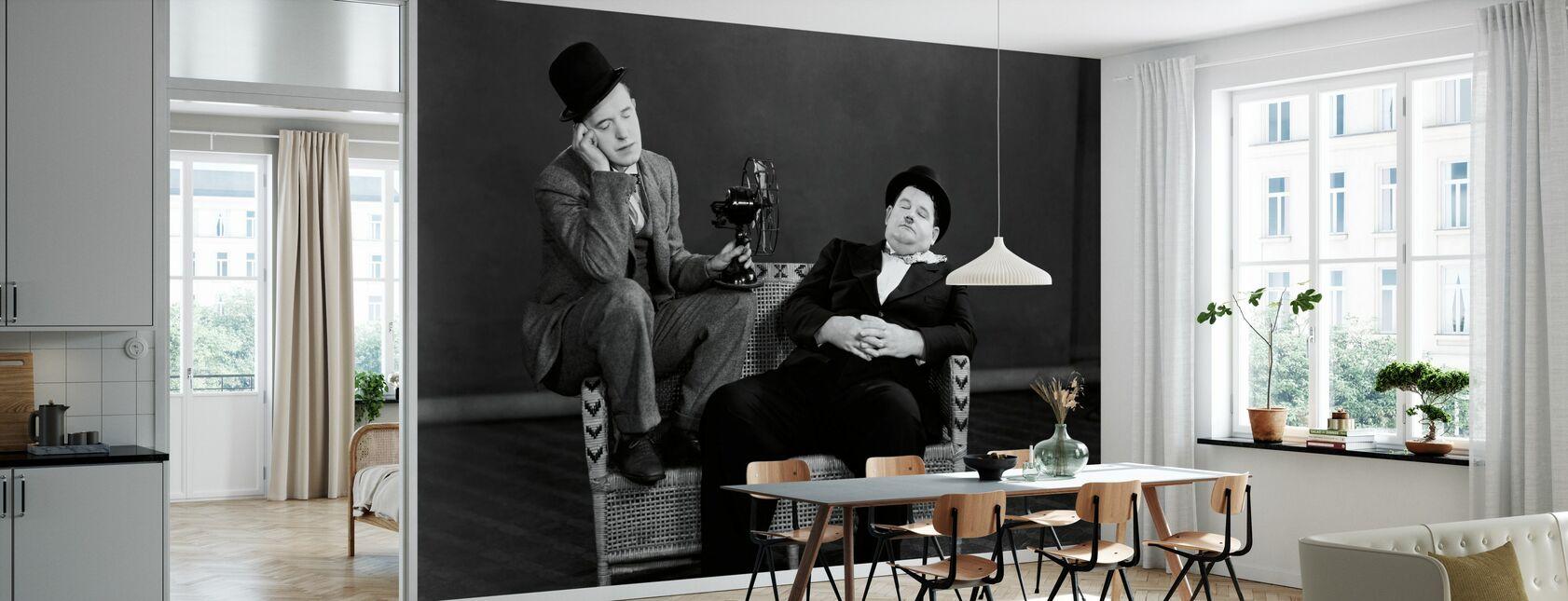 Oliver Hardy en Stan Laurel - Behang - Keuken