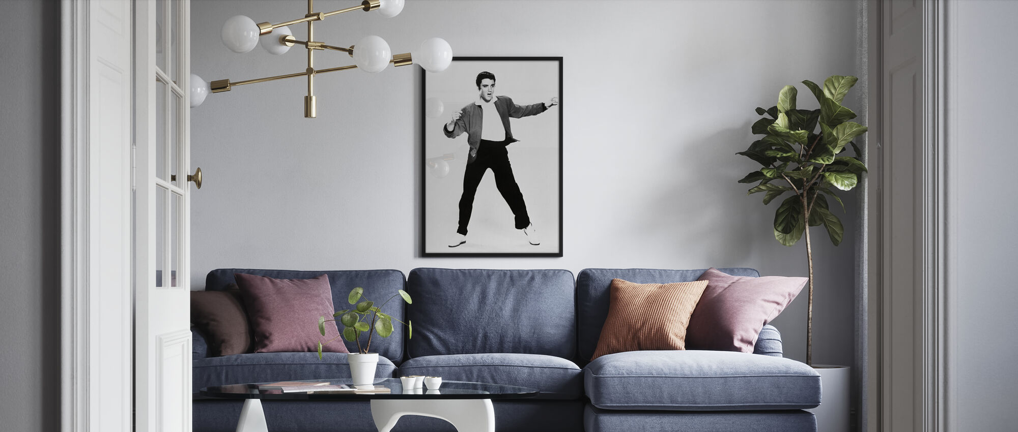 Elvis Presley in Jailhouse Rock - Framed print - Living Room