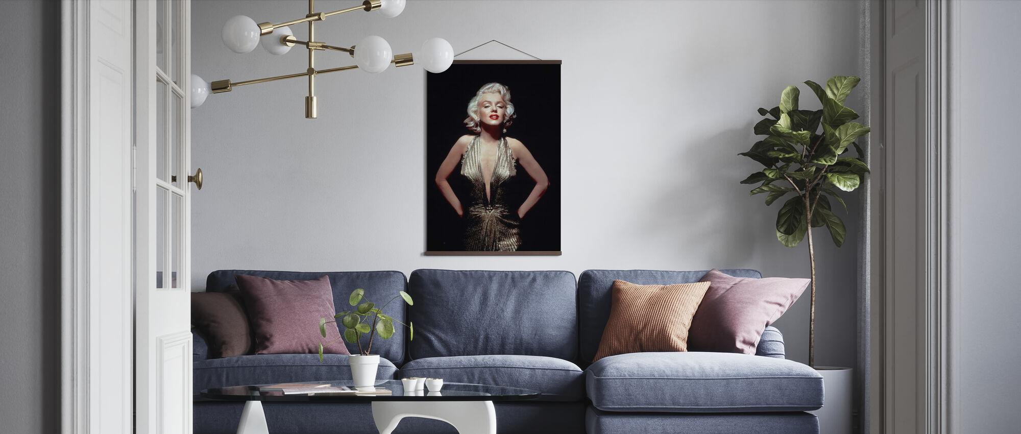 Marilyn Monroe in heren liever blondjes - Poster - Woonkamer