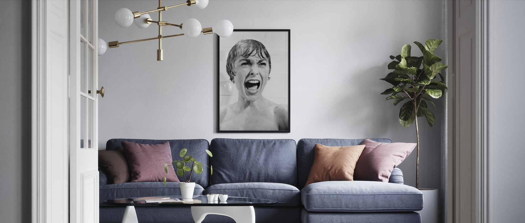 Janet Leigh in Psycho - Poster - Woonkamer