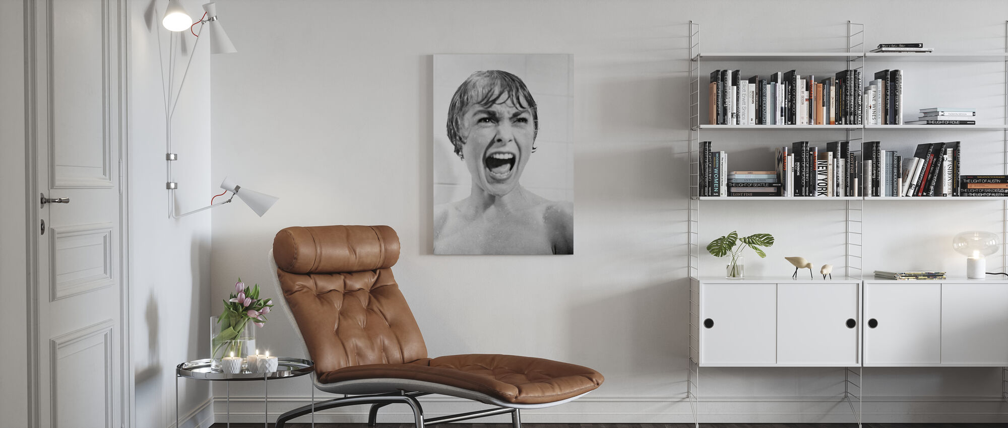 Janet Leigh in Psycho - Canvas print - Living Room