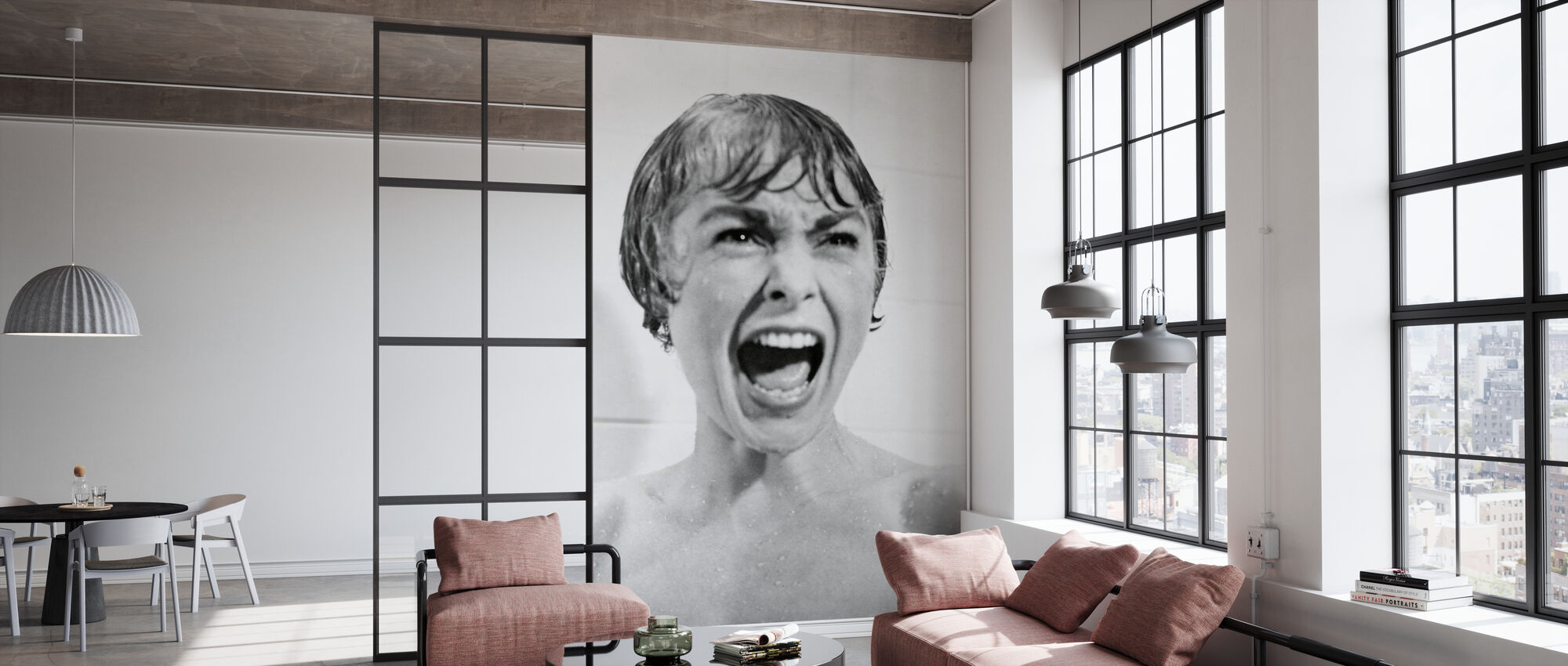 Janet Leigh en Psycho - Tapet - Kontor