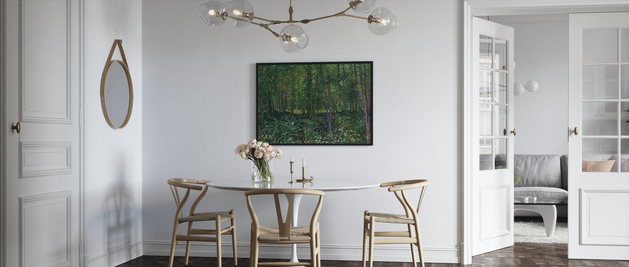 Träd och undervegetation - Inramad tavla - Kök