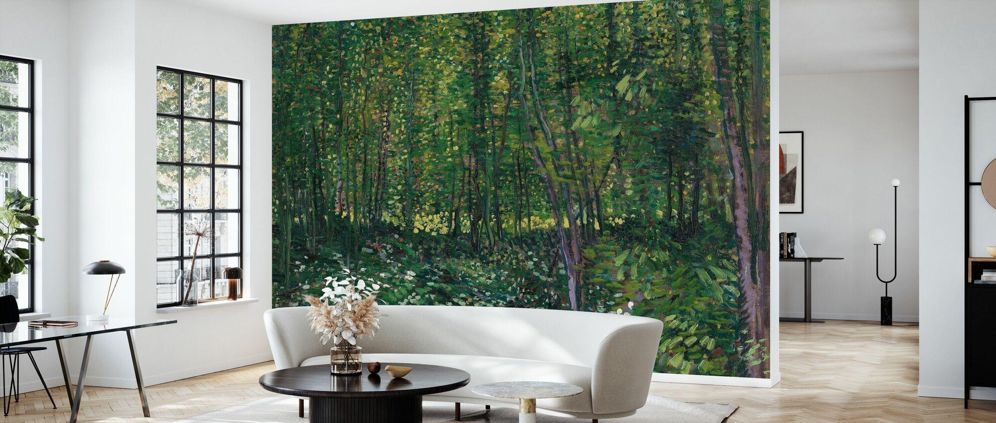 Träd och undervegetation - Tapet - Vardagsrum