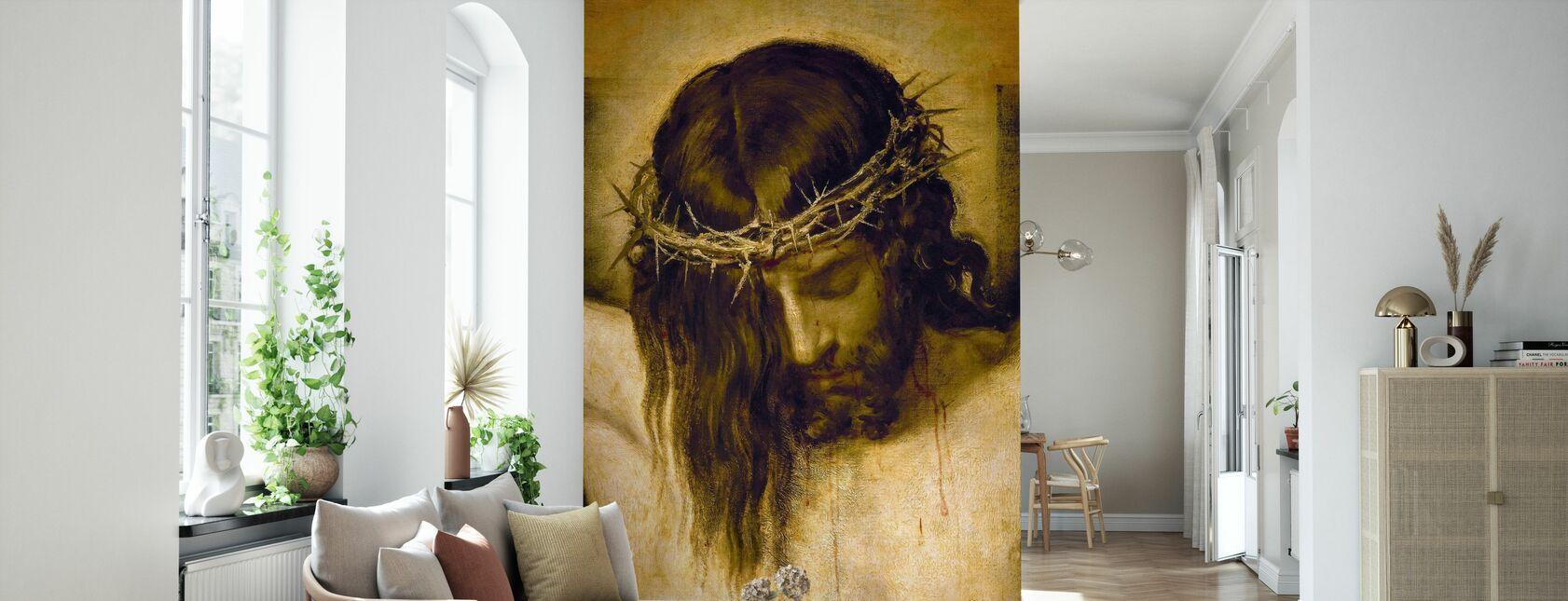 Korsfæstede Kristus - Tapet - Stue