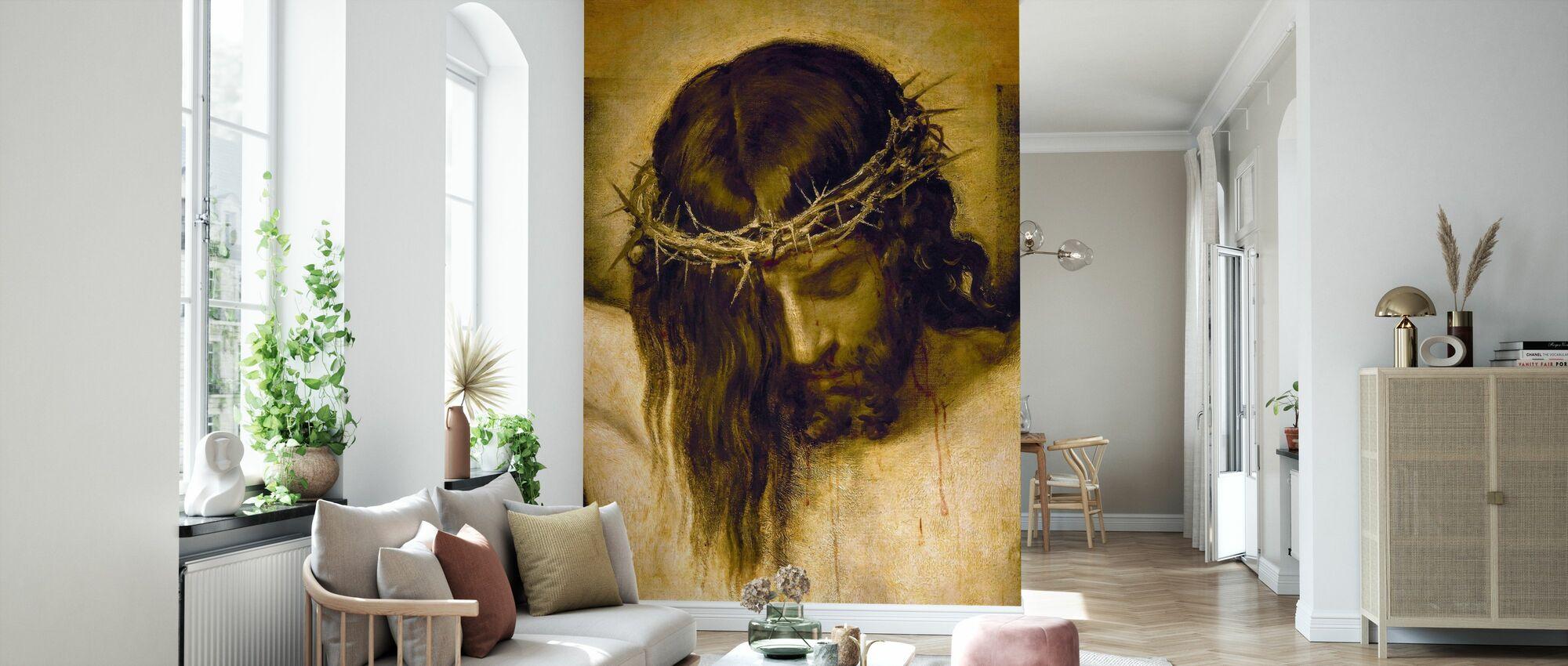 Ristiinnaulittu Kristus - Tapetti - Olohuone