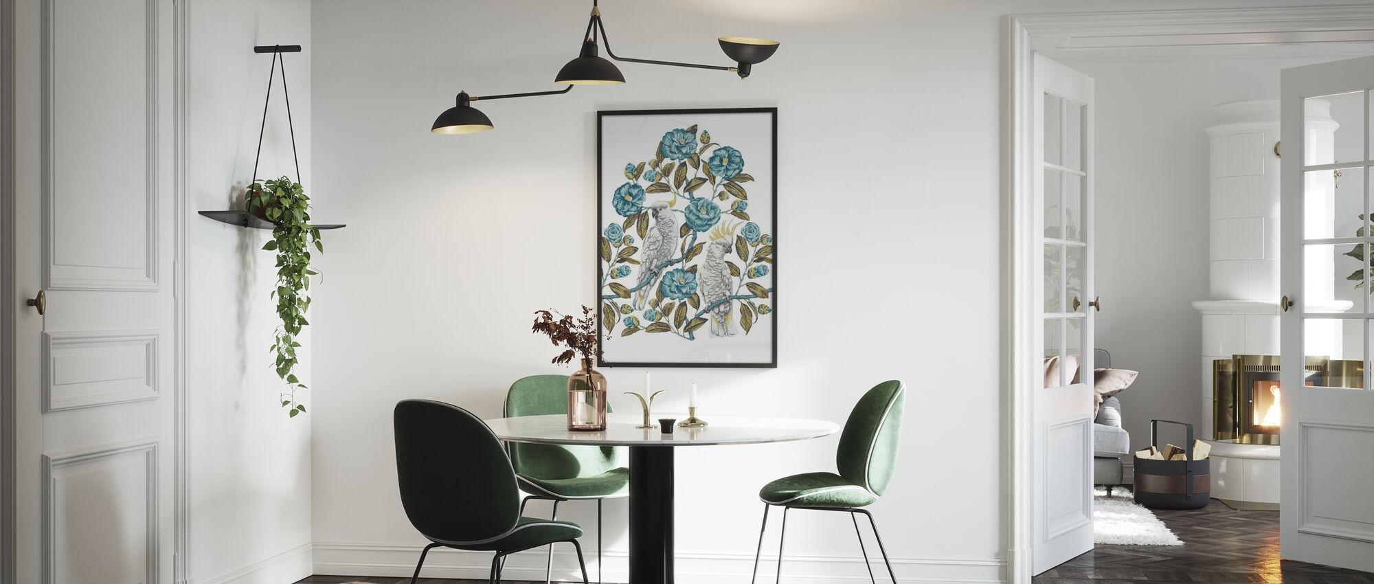 Kakadua Paradise - Aquatic och Olive - Poster - Kök