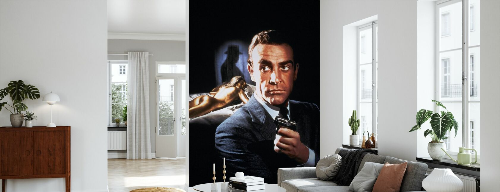 Sean Connery en 007 Goldfinger - Tapet - Stue