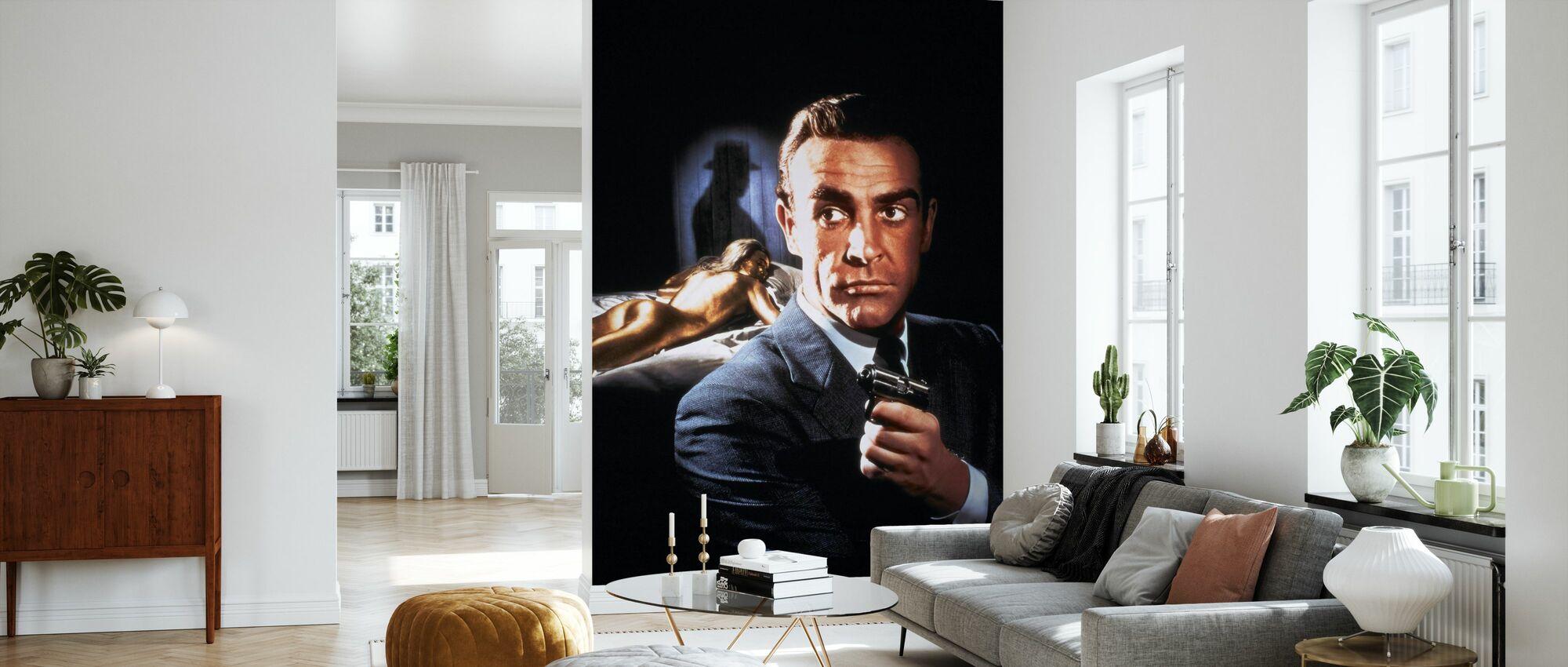 Sean Connery in 007 Goldfinger - Tapete - Wohnzimmer