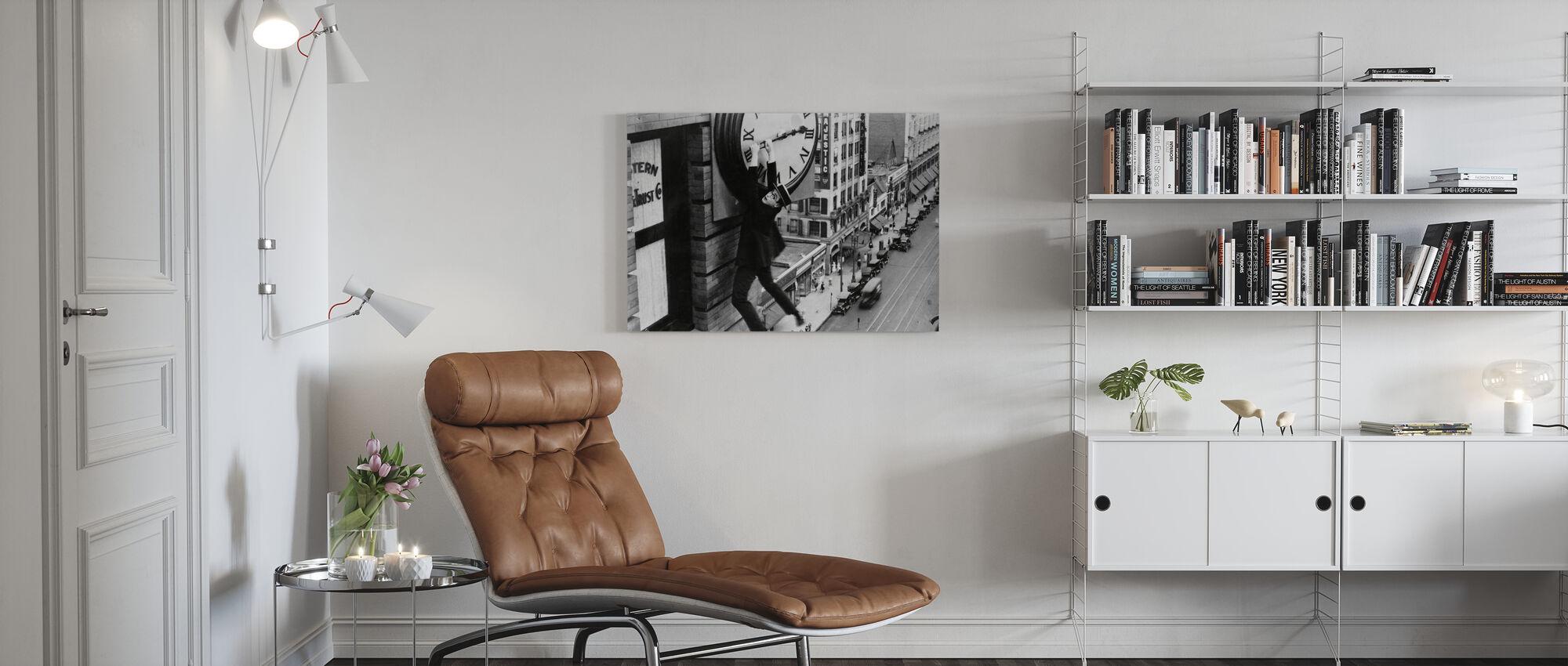 Harold Lloyd in veiligheid laatste - Canvas print - Woonkamer