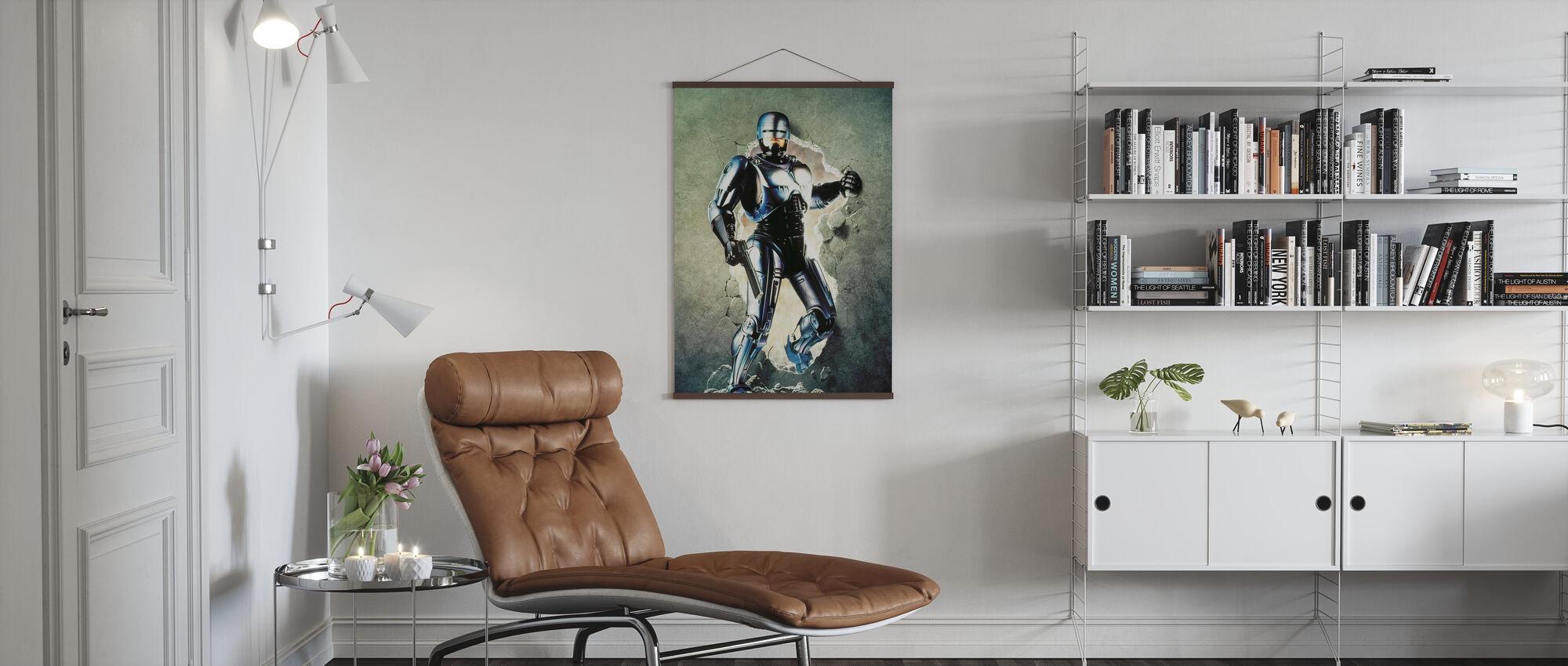 Peter Weller en Robocop 2 - Poster - Woonkamer