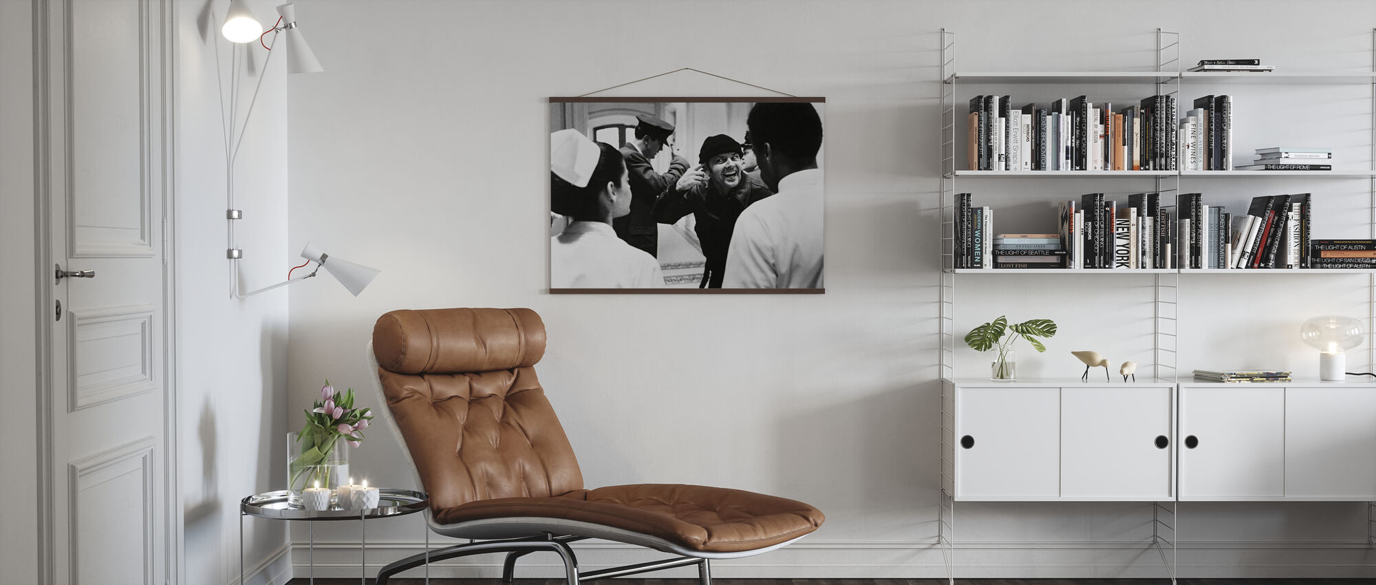 Jack Nicholson i en flög över Cuckoos boet - Poster - Vardagsrum