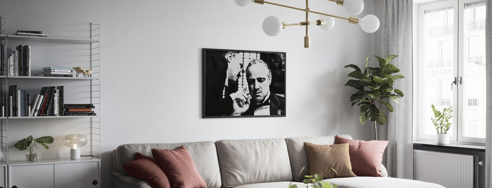 Marlon Brando w ojcu chrzestnym - Obraz w ramie - Pokój dzienny