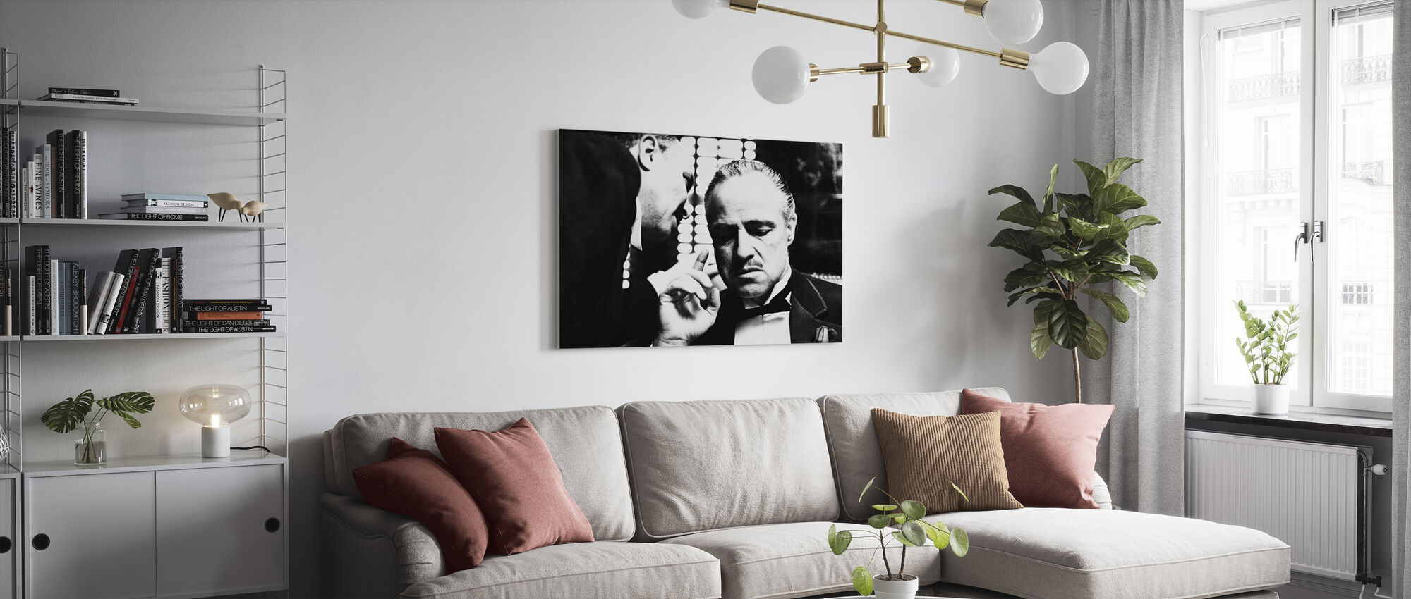 Marlon Brando in the Godfather - Canvas print - Living Room