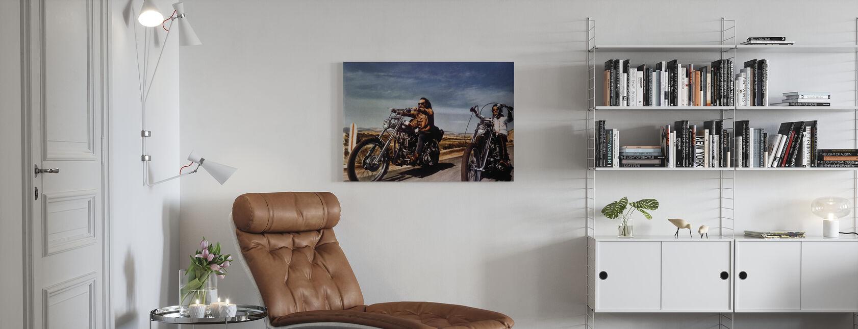 Dennis Hopper ja Peter Fonda Easy Rider - Canvastaulu - Olohuone
