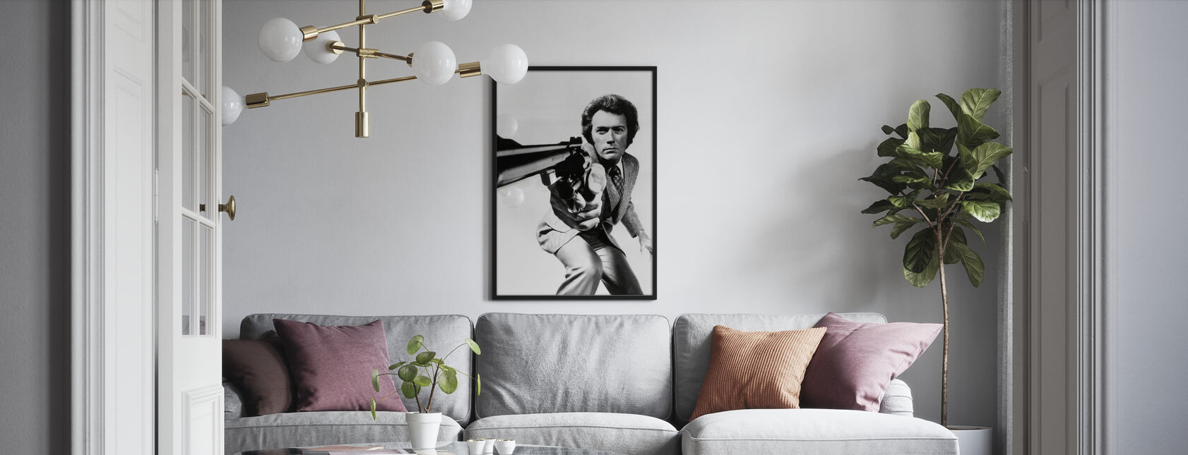 Clint Eastwood in Magnum Force - Poster - Wohnzimmer