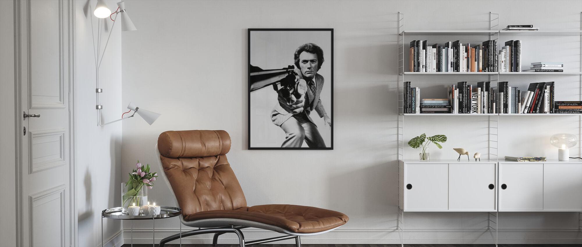 Clint Eastwood in Magnum Force - Framed print - Living Room