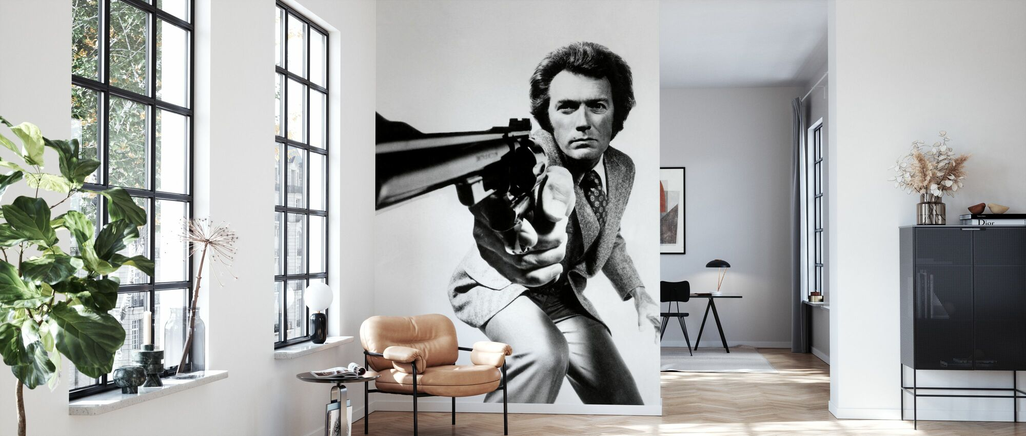 Clint Eastwood in Magnum Force - Wallpaper - Living Room