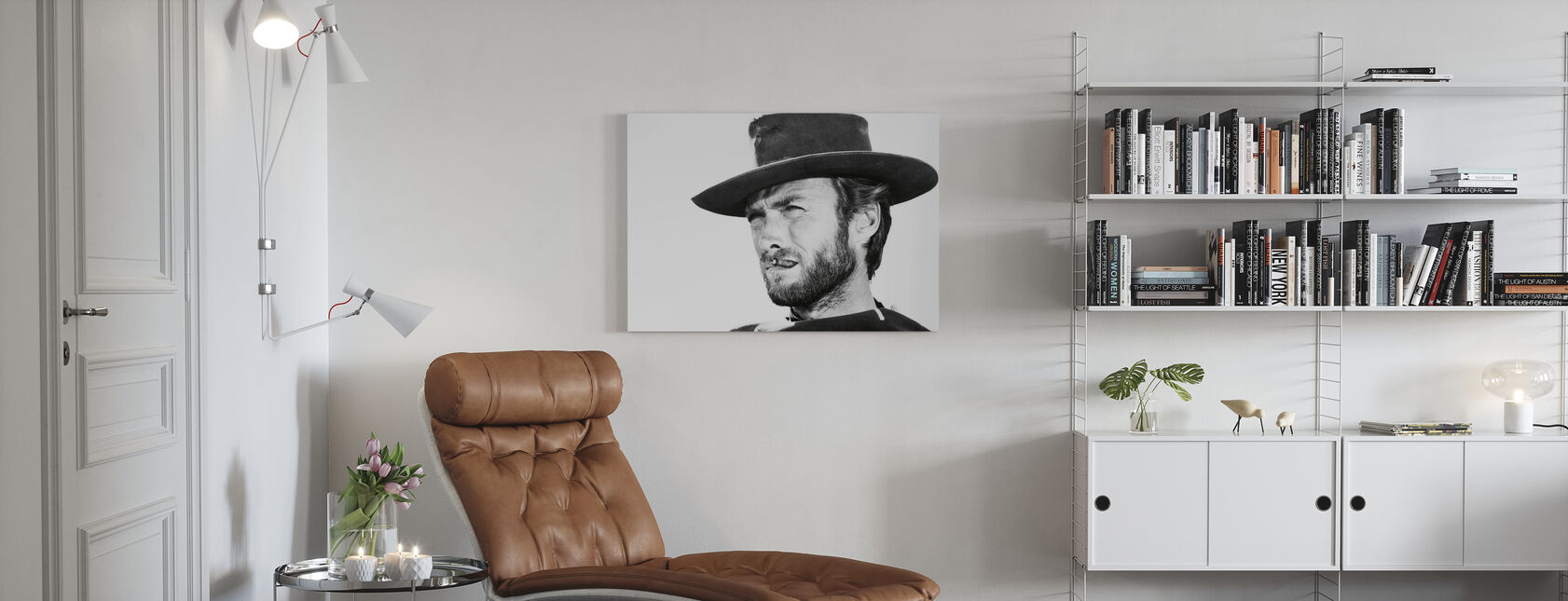 Clint Eastwood in Good the Bad and the Ugly - Canvas print - Living Room