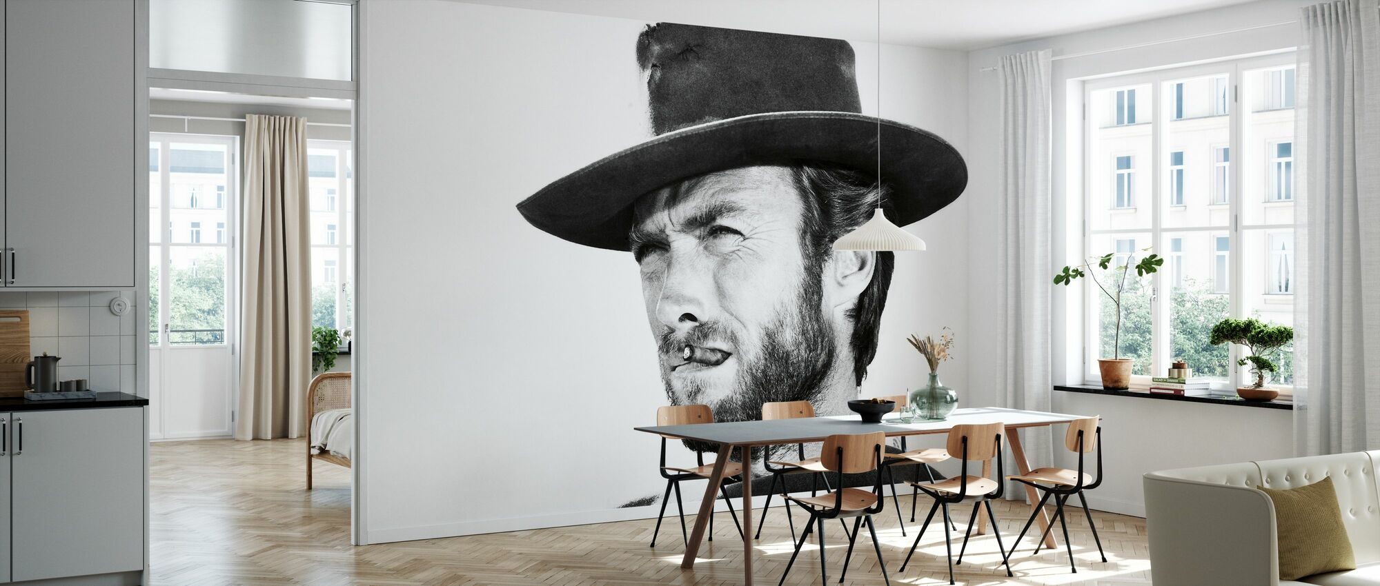 Clint Eastwood in Good the Bad and the Ugly - Wallpaper - Kitchen