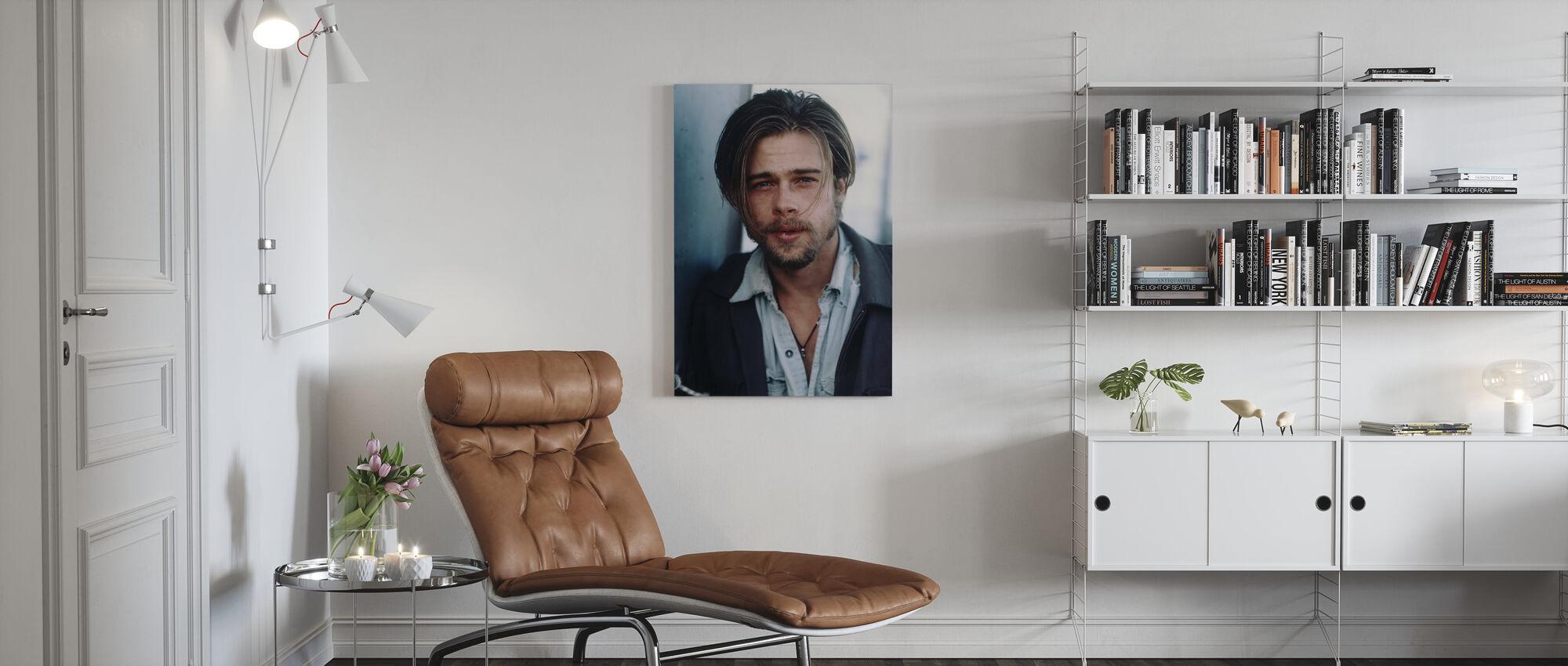 Brad Pitt in Kalifornia - Canvas print - Living Room