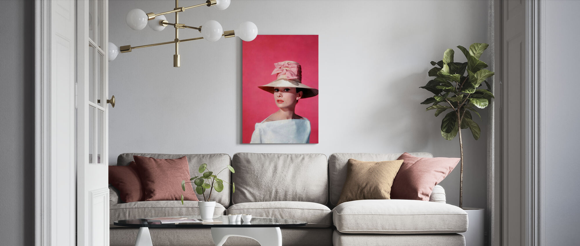 Audrey Hepburn in Funny Face - Canvas print - Living Room