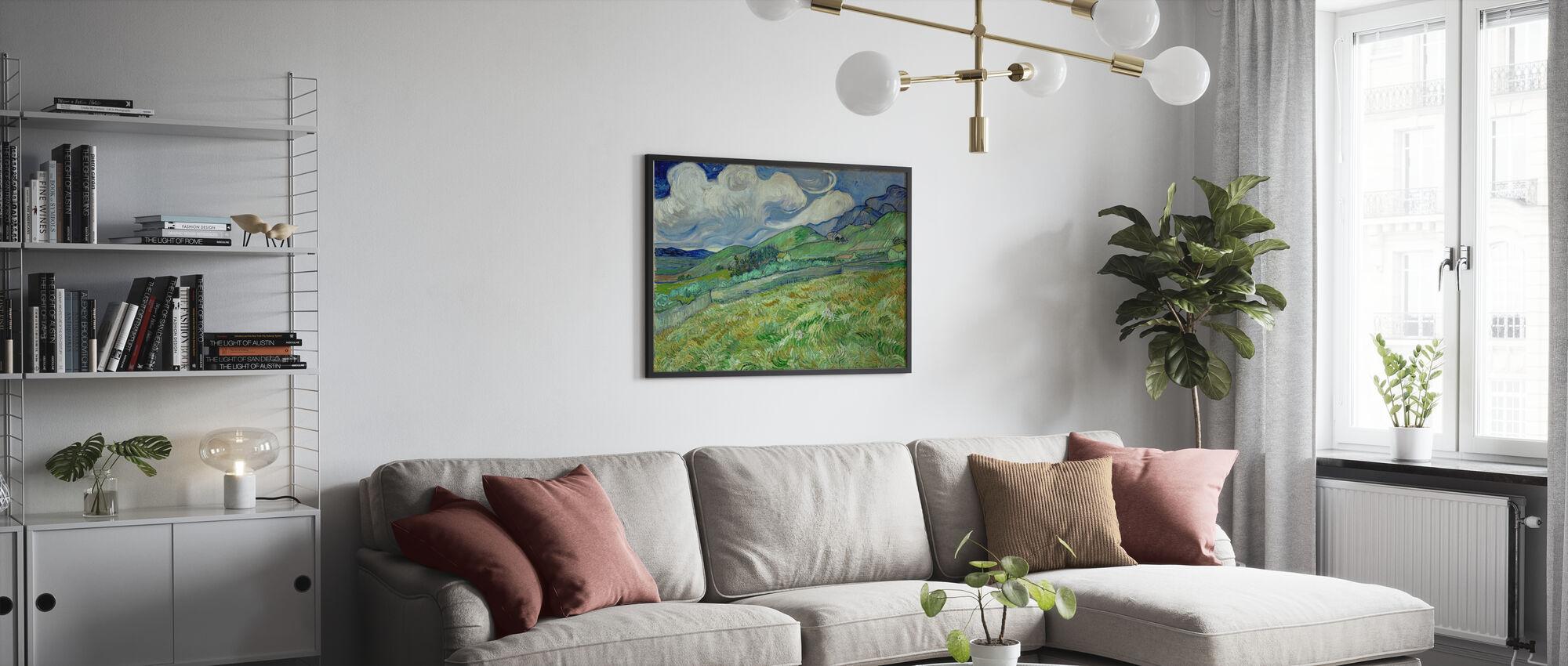 Landschaft von Saintremy - Gerahmtes bild - Wohnzimmer