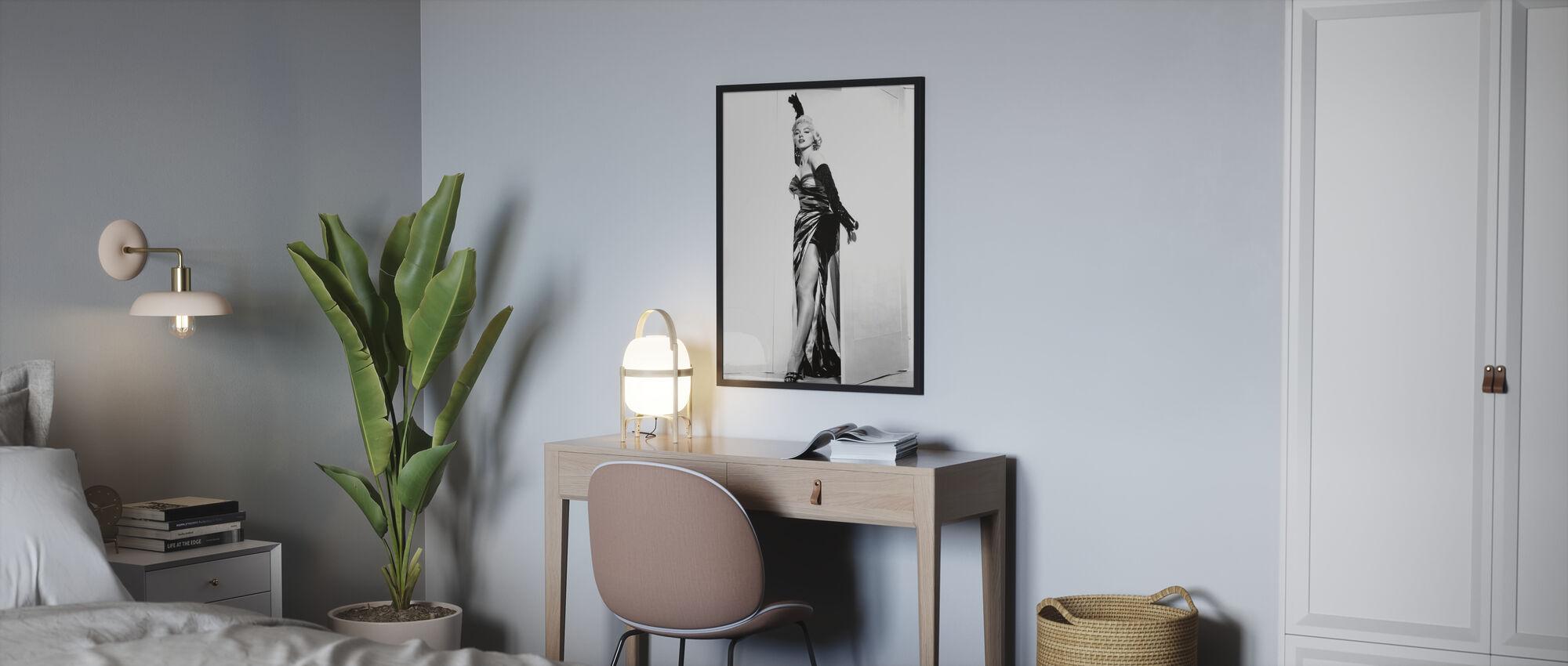 Marilyn Monroe i syvåret Kløe - Innrammet bilde - Soverom