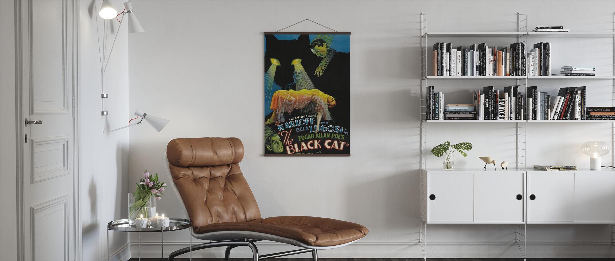 Zwarte Kat - Poster - Woonkamer