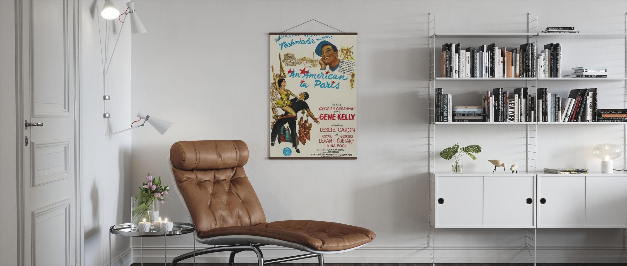 Amerikaans in Parijs - Poster - Woonkamer