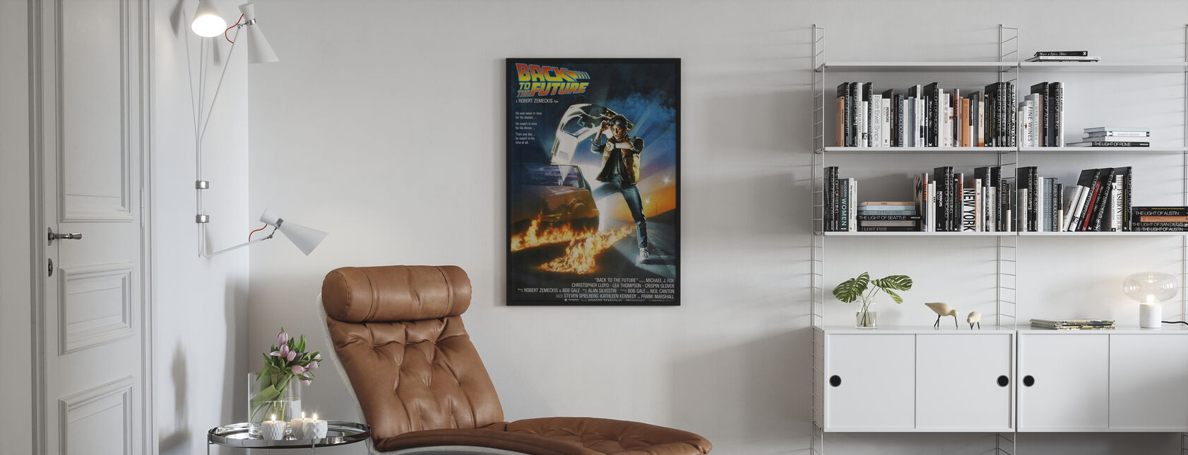 Back to the Future - Framed print - Living Room