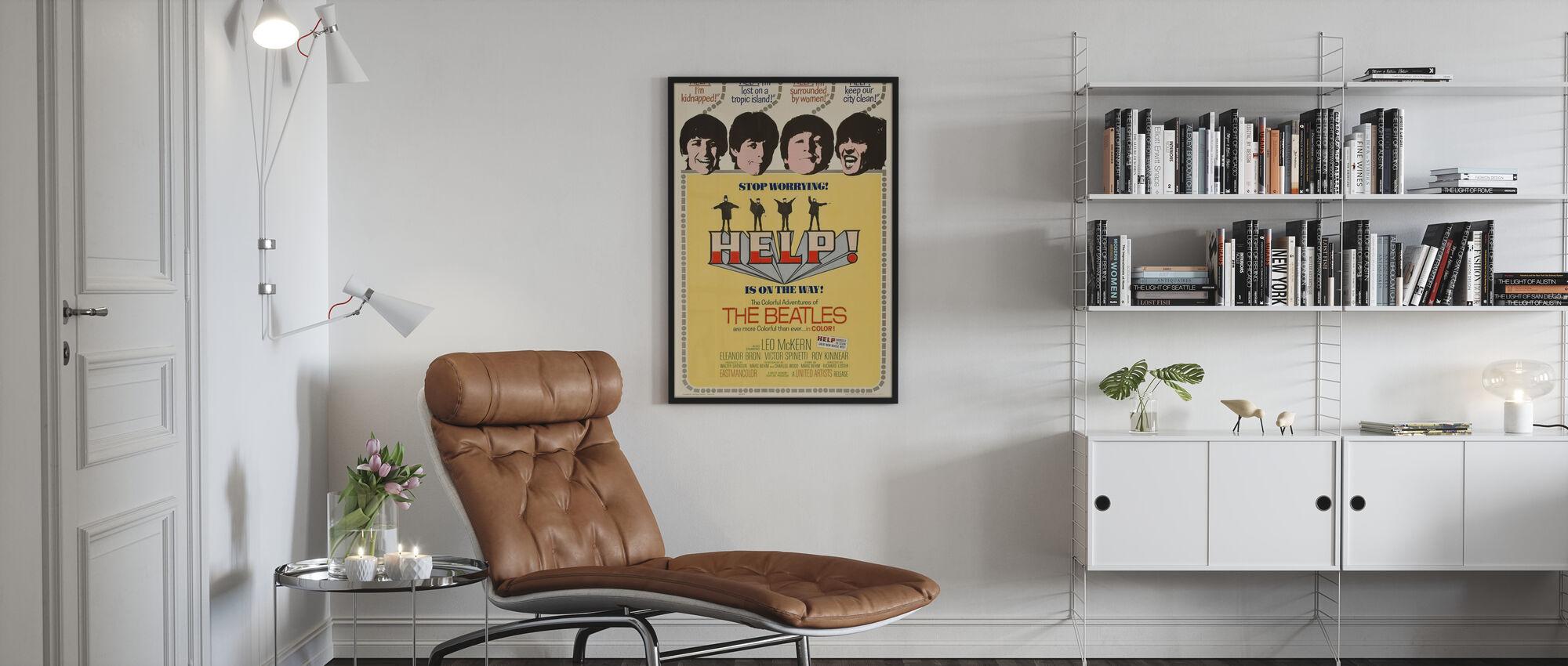 Help - Framed print - Living Room