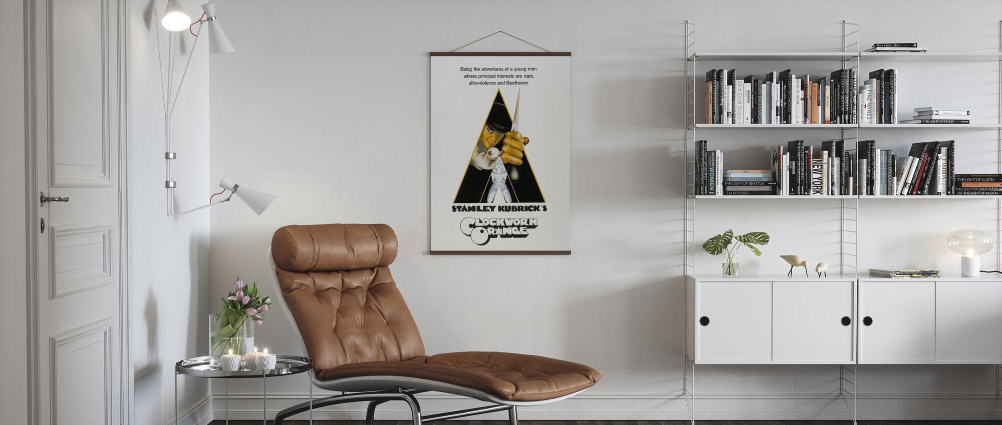 uurwerk Oranje - Poster - Woonkamer