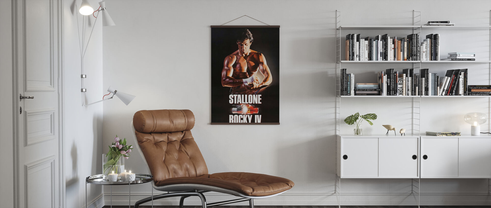 Sylvester Stallone in Rocky IV - Poster - Wohnzimmer