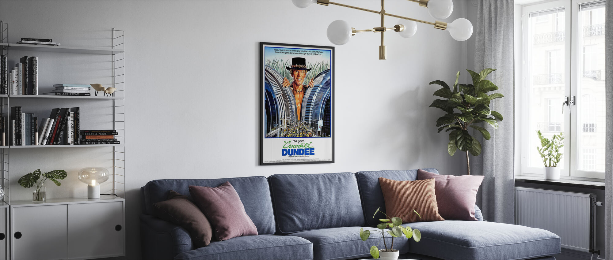 Crocodile Dundee - Poster - Living Room