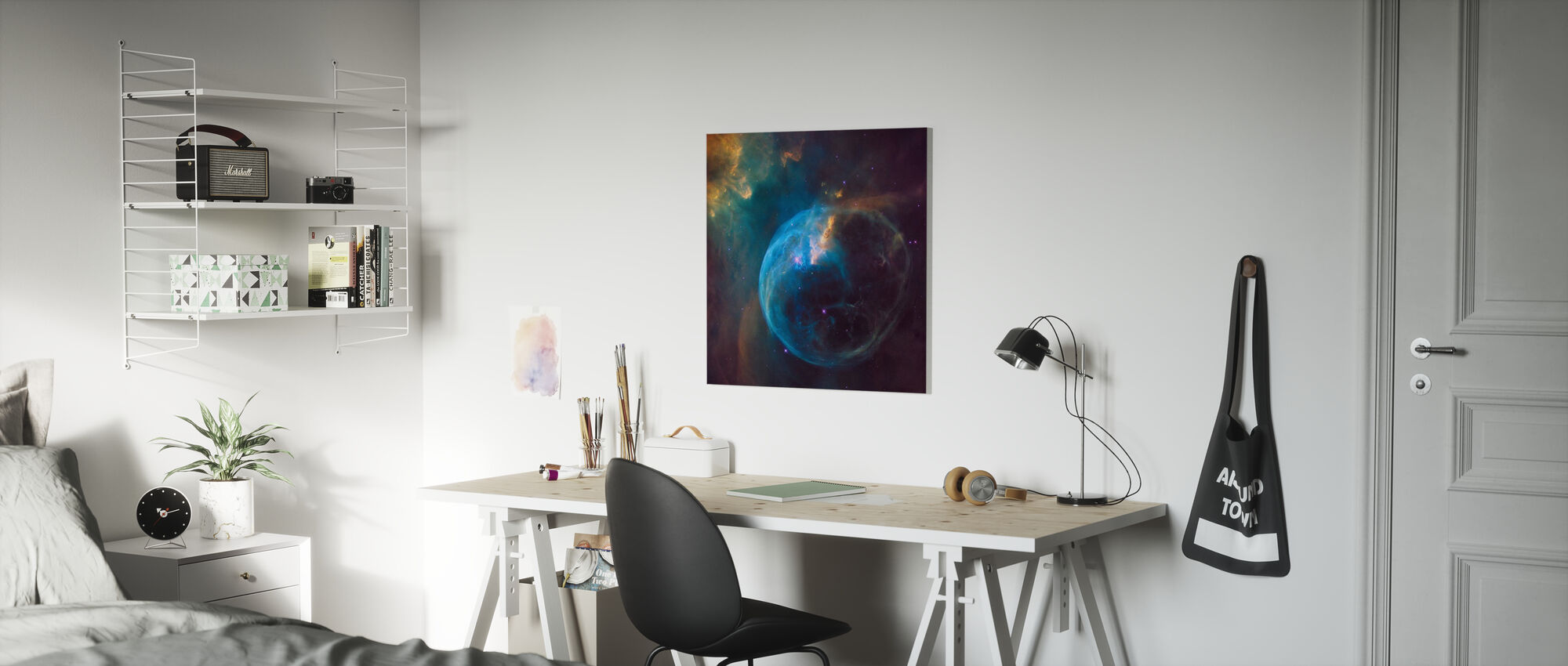Universumi - Canvastaulu - Lastenhuone